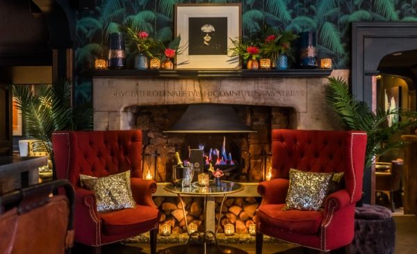 Fireplace at Circo